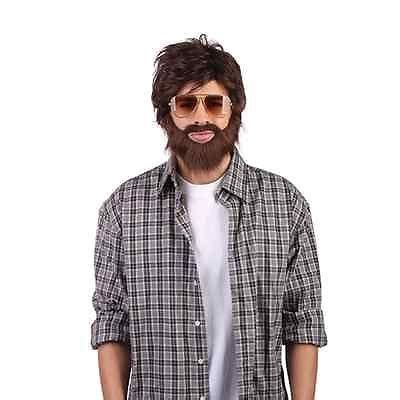 men s hangover alan wig hair beard zach galifianakis