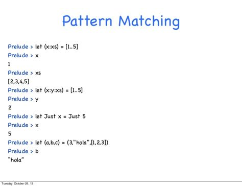 pattern matching list haskell programaci 243 n funcional con haskell