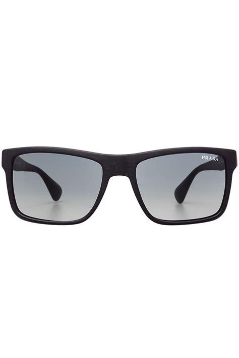 Square Prada prada square frame sunglasses grey in black lyst