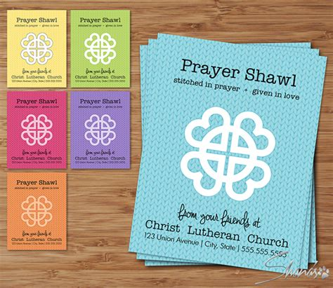 prayer shawl card template flat cards links of collection