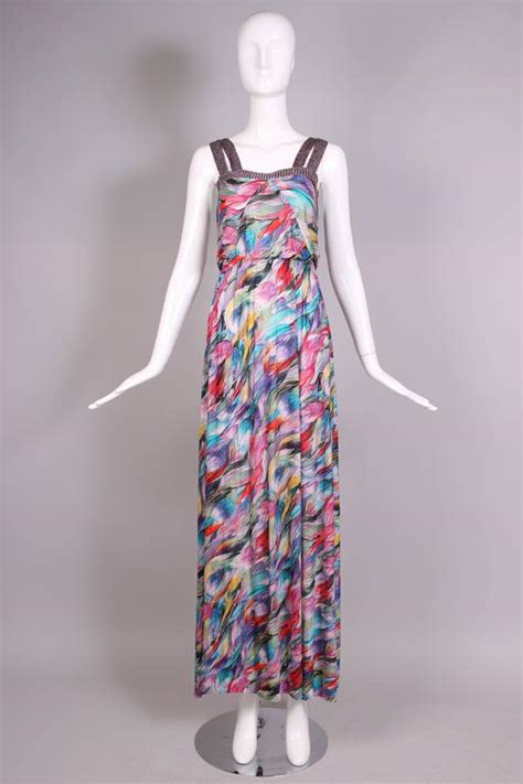 Farah Maxi Set Top Skirt Pashmina 1 missoni multi colored abstract print maxi dress and shawl for sale at 1stdibs