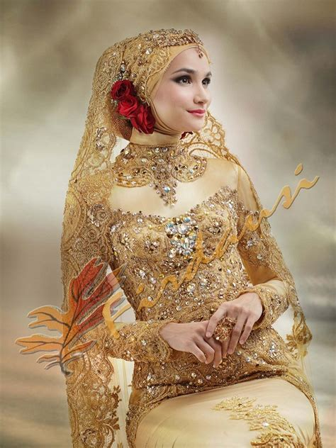 Baju Warna Gold new bridal designs for your wedding day hijabiworld