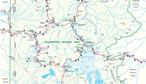 map of yellowstone park a yellowstone national park map pdf my yellowstone park