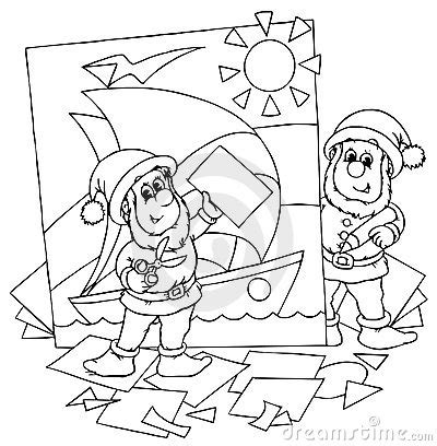 coloring book paper stock gnomes royalty free stock photography image 15018157