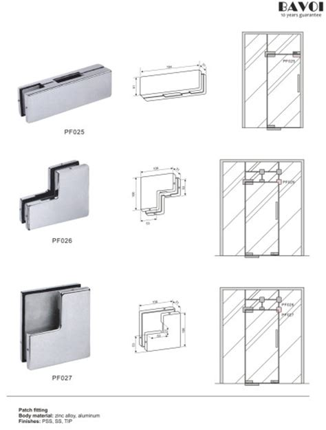 Patch Fitting Glass Hardware Manufacturers Glass Door Patch Fittings