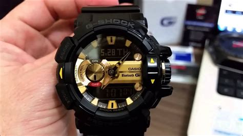 G Original g shock gba400 g mix bluetooth dourado 100 original