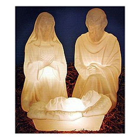 3 piece holy family christmas outdoor set 3 outdoor lighted plastic holy family nativity set for yard outdoor lights sale