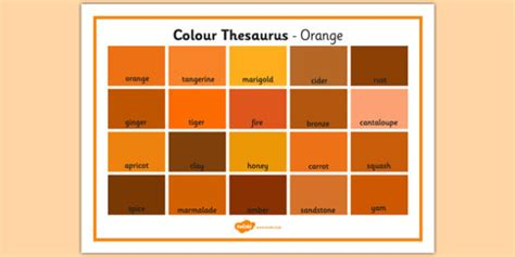 color thesaurus colour thesaurus word mat orange colour thesaurus