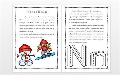 va la t i a y cuentos con fonemas la letra n noa va a la nieve orientaci 243 n and 250 jar recursos educativos