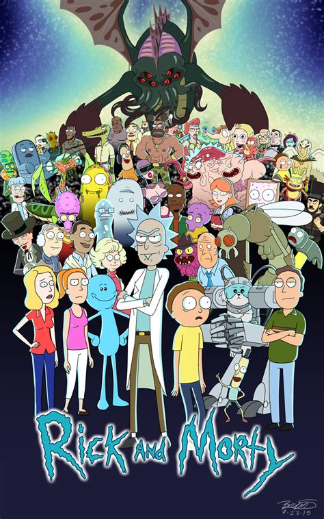 rick and morty fans rick and morty fan poster by 3frogboy tv