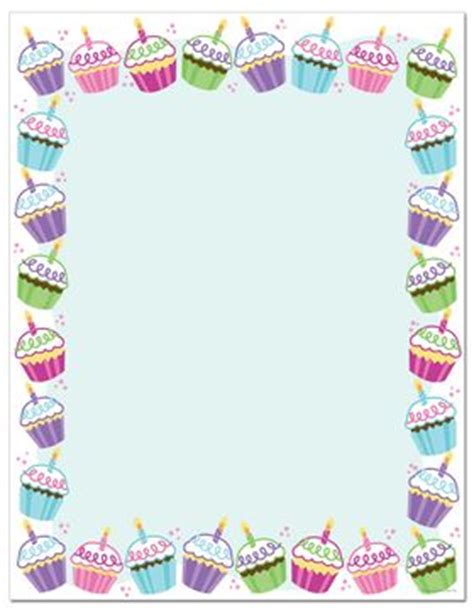 cupcakes borders and covers pinterest clip art