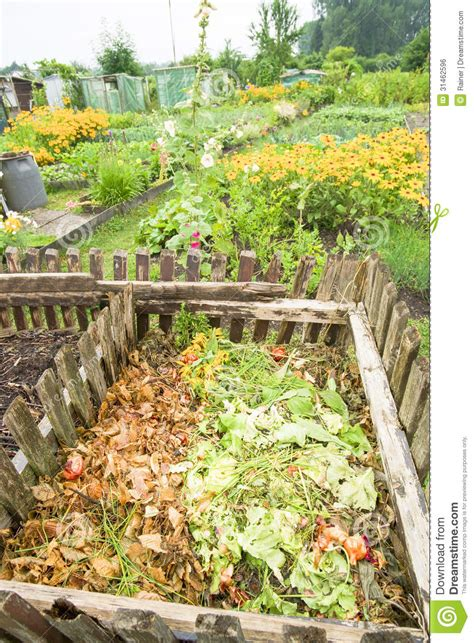 Garden Compost Bin Royalty Free Stock Image Image 31462596 Compost For Vegetable Garden
