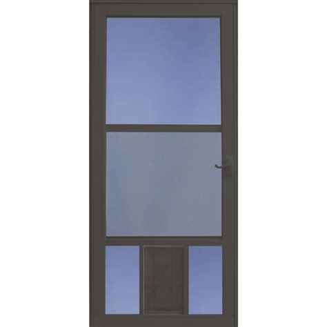 Shop LARSON PetView Brown Mid View Aluminum Storm Door