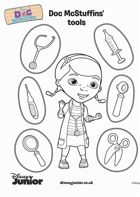 Doc Mcstuffins Coloring Pages Disney Junior by Stuffy Doc Mcstuffins Coloring Pages Coloring