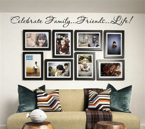 home decor wall decals new celebrate family friends vinyl wall