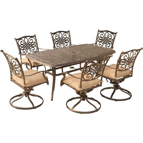 hanover traditions 7 aluminum outdoor dining set
