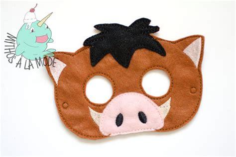 printable warthog mask warthog mask
