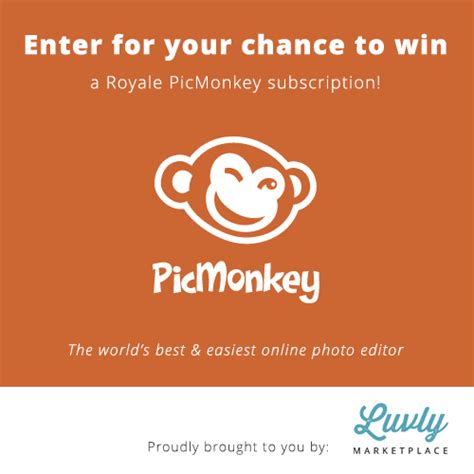 Enter Our Giveaway - luvly graphic design blog enter our picmonkey giveaway for a chance to win a