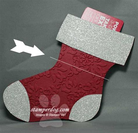 Stocking Gift Card Holder - christmas stocking gift card holder stin up demonstrator ann m clemmer