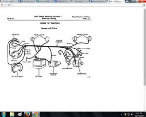 i a 1950 deere m tractor i need a wiring diagram