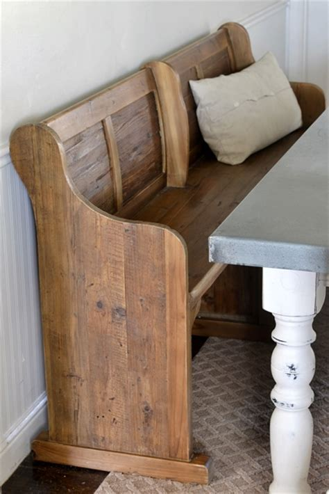 church pew dining bench dining area makeover reveal beneath my heart