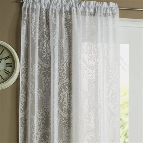 lace white curtains cambridge white lace panel voile panels curtains