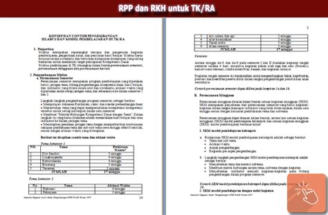 contoh rpp terbaru tk contoh rpp terbaru tk silabus rpp dan rkh untuk tk ra sisi