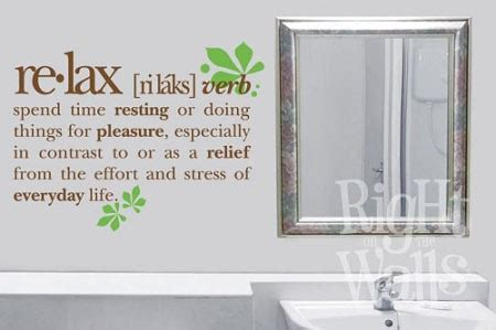 meaning of bathroom relax definition spa bathroom wall decals vinyl art stickers