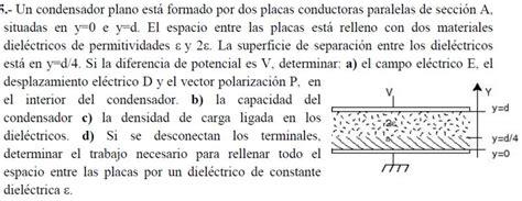 condensador esferico con dos dielectricos 1r ciclo condensador plano con dos diel 233 ctricos