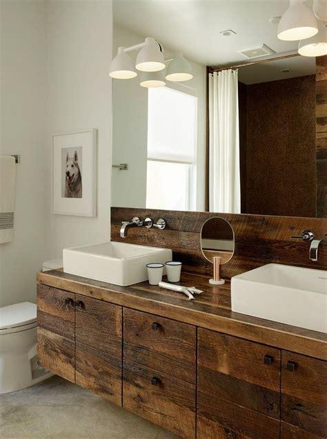 25  best ideas about Rustic modern bathrooms on Pinterest