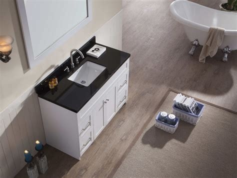 black sink white countertop ariel hamlet 49 quot single sink vanity set with absolute