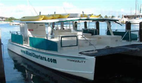 charter boat tours miami 40ft tranquility power catamaran yacht for charter in