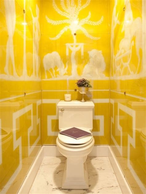 bathroom with yellow walls 37 sunny yellow bathroom design ideas digsdigs