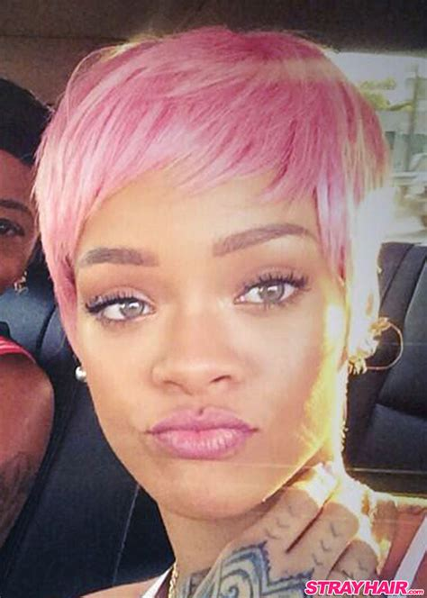 haircuts for colored pink hair rihannas many great short hairstyles strayhair