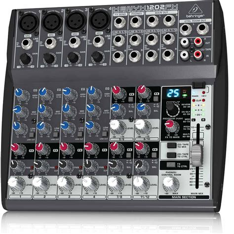 behringer xenyx 1202fx mixer in musical instruments