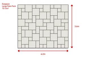 Patio Slab Patterns by Easypave Ultrapave Moorstone Paving Stones Premium