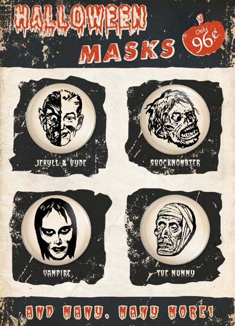 printable vintage halloween masks vintage halloween masks amature housewives