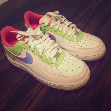 rainbow colored shoes 33 nike shoes rainbow colored nike air forces from