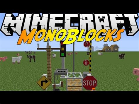 [1.7.10][forge] monoblocks signs, fences, blocks, and