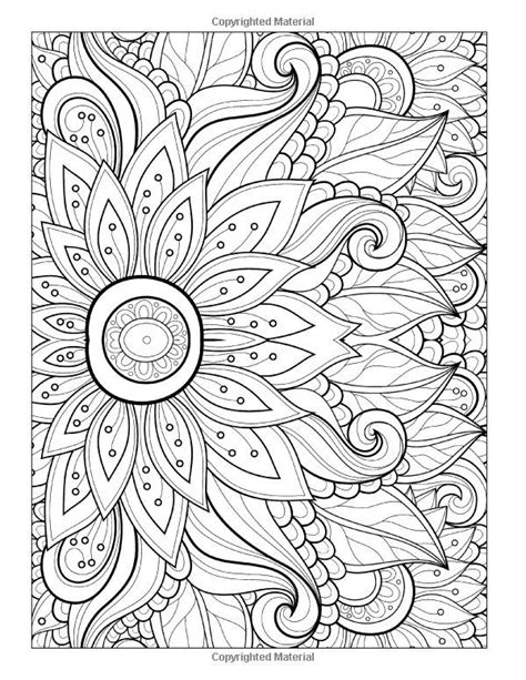 abstract sunflower coloring page to print this free coloring page 171 coloring adult flower