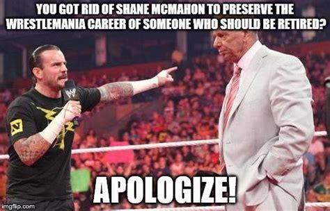 Wrestlemania Meme - wrestlemania spoiler 2 shane mcmahon vs undertaker imgflip