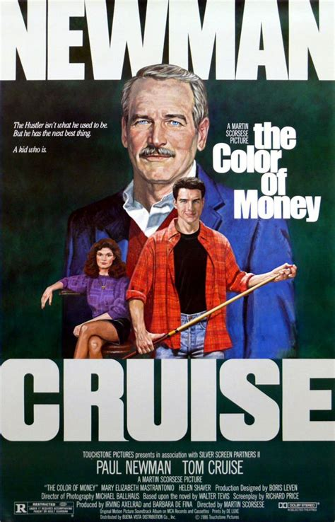 film tom cruise e paul newman the color of money directed by martin scorsese starring