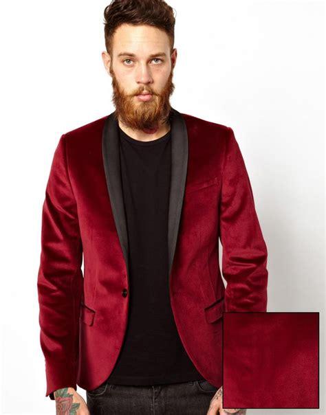 H Jaket List Maroon noose monkey velvet blazer mens fashion wish list