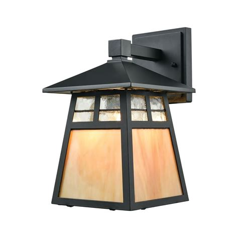 Cottage Outdoor Lighting Elk Lighting Cottage Matte Black Outdoor Wall Light 87050 1 Destination Lighting
