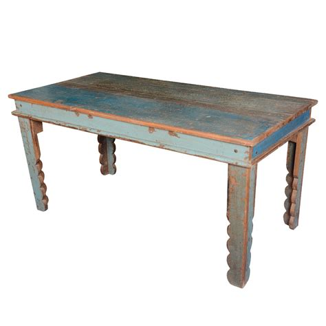 Reclaimed Kitchen Table by Rustic Farmhouse Reclaimed Wood Blue Kitchen Table