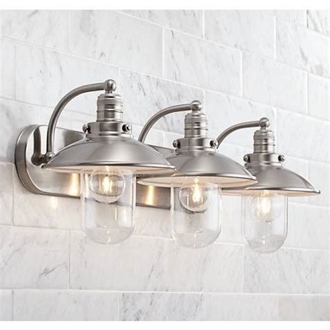 feit electric led 3 light bath vanity costcochaser downtown edison 28 1 2 quot wide brushed nickel bath light