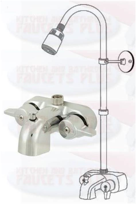 Clawfoot Tub Faucet With Diverter by Chrome Bathroom Add A Shower Clawfoot Tub Diverter Faucet