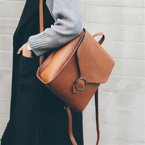 Bag Ransel Fashion 1 new korean style vintage preppy style backpack pu joker leisure school bag vintage
