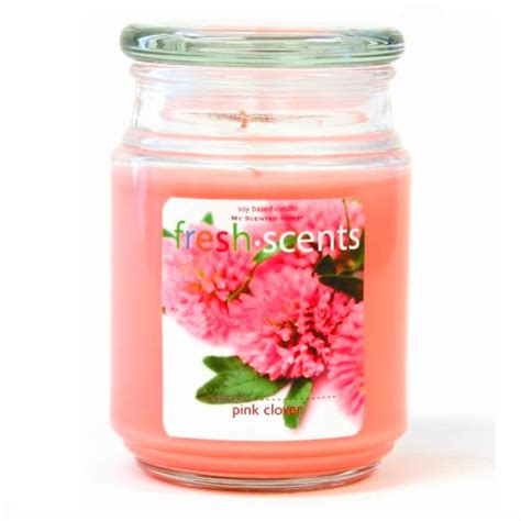 pink clover fresh scents 18oz soy candle for every