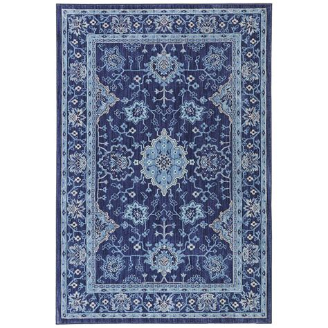 mohawk home area rugs mohawk home parquet indigo 5 ft 3 in x 7 ft 10 in area rug 467777 the home depot